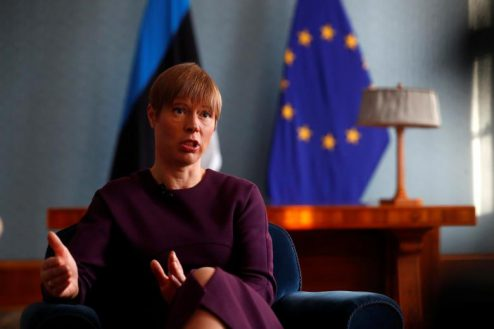 کرستی کالیولاید رئیس جمهور استونی